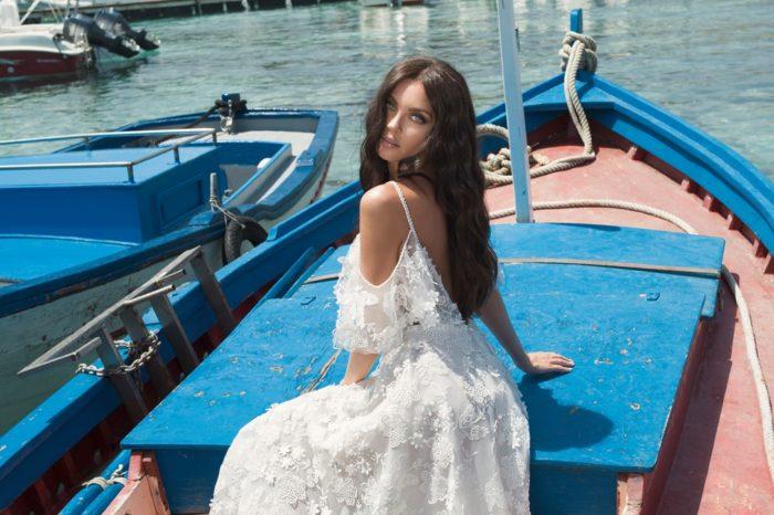 Dominiss Opera a-vonalú menyasszonyi ruha